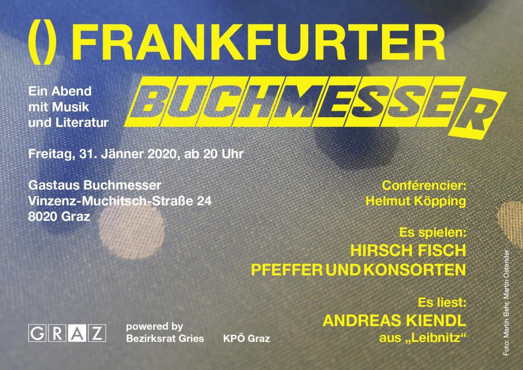 """Flyer """"Frankfurter Buchmesser"""" 31.1.2020"""